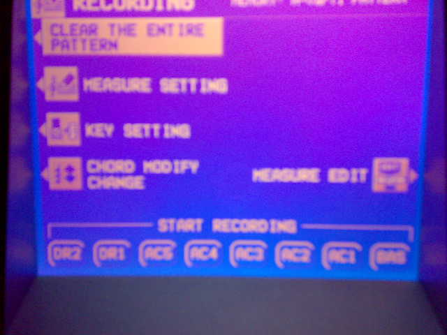 menu recording