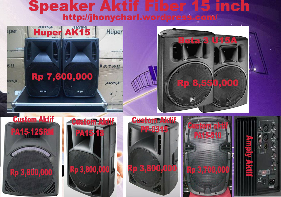 Speaker Aktif 15 Inch ORGAN TUNGGAL MUSIK KEYBOARD LIVE